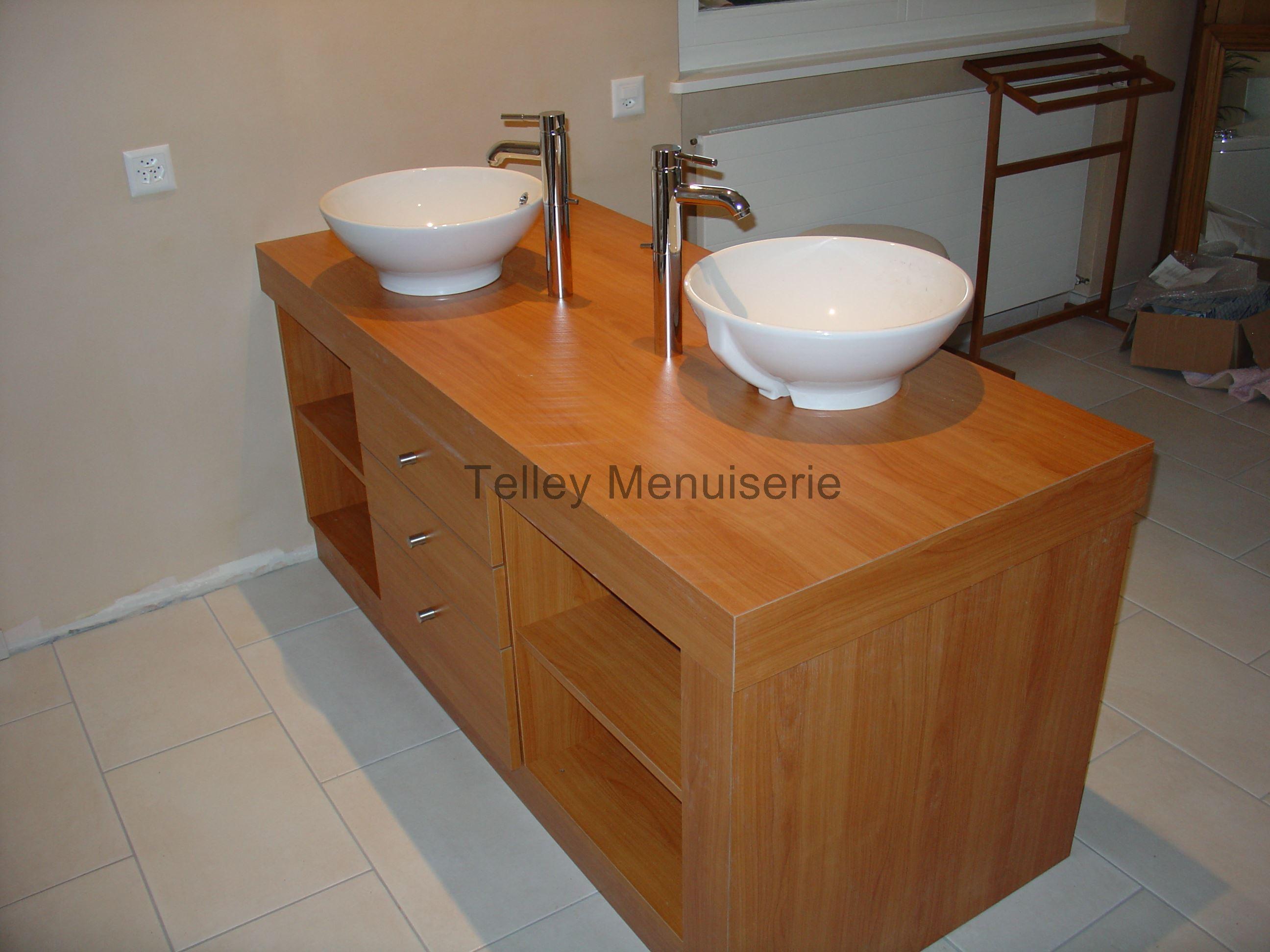 Meubles salle de bain wc menuiserie telley for Meuble de salle de bain wc