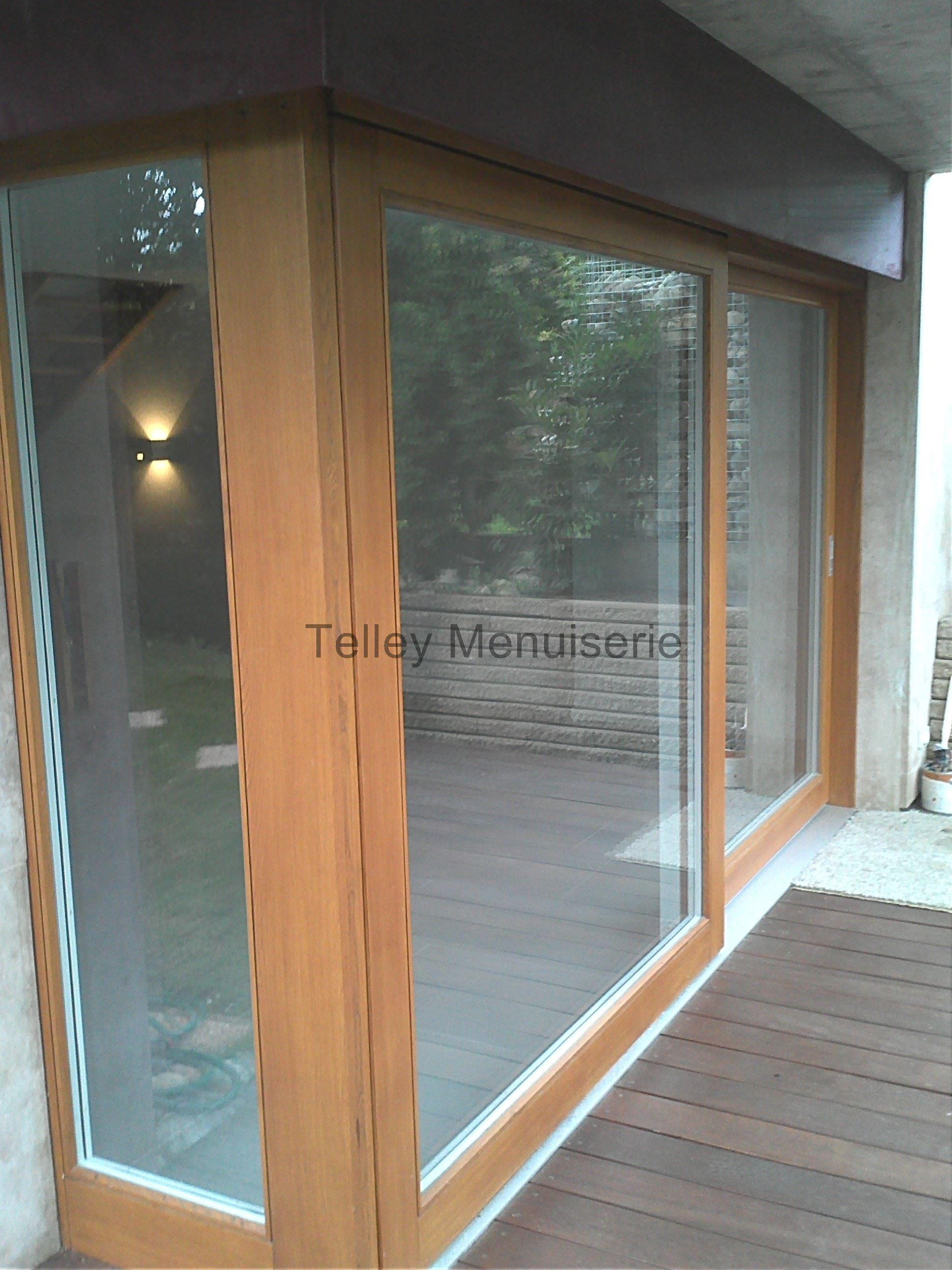 Portes fen tres coulissantes menuiserie telley - Porte interieure coulissante sur mesure ...