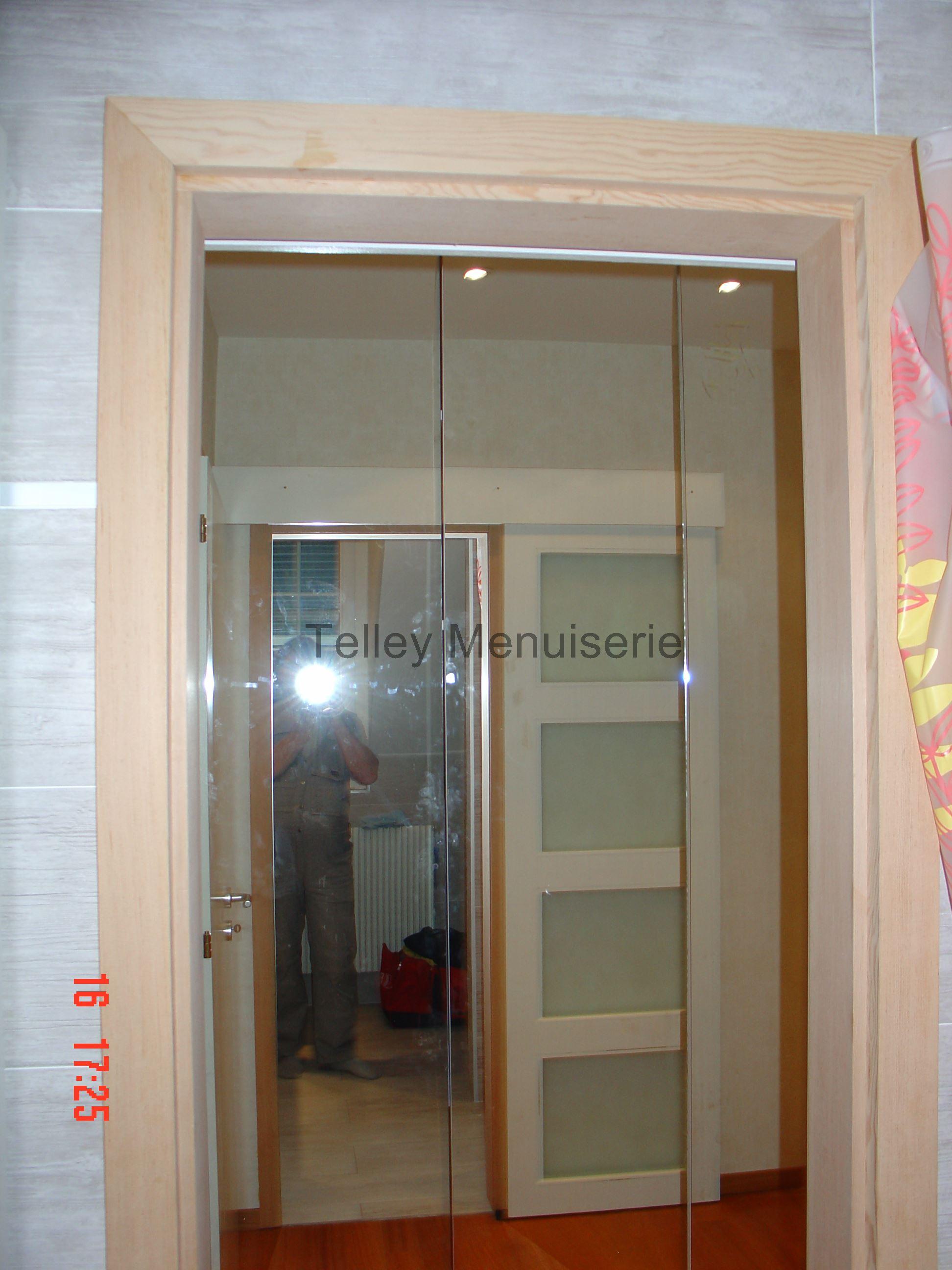 Porte Salle De Bain Vitree ~ portes coulissantes menuiserie telley